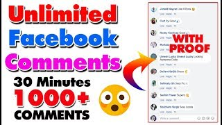 How to Increase Facebook auto comments | Facebook Auto comments 2018 | Unlimited Facebook Comments
