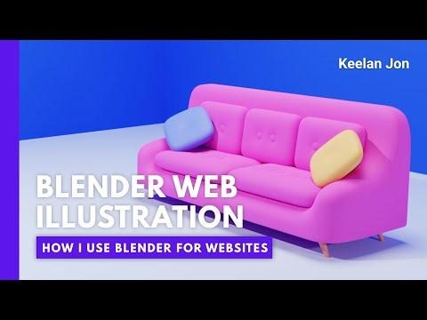 3D Website Illustration Tutorial - Blender 3D Beginner Tutorial