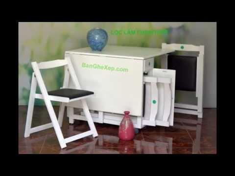 Bàn Ghế Xếp Gấp Gọn Gàng Thông Minh Lộc Lâm Furniture