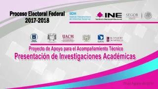 Presentación de investigaciones académicas para el acompañamiento técnico del PEF 2017-2018