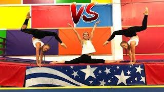 Download Ultimate Gymastics Challenge Ft Rebecca Zamolo (Aussies Vs American) Mp3 and Videos