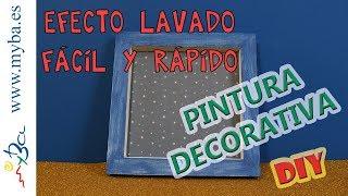 Pintura decorativa: Cómo hacer efecto lavado fácil y rápido DIY. Decoart Vintage Wash.