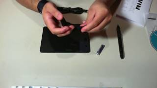 Unboxing Review of the Huion H420 USB Pen Drawing Graphics Tablet