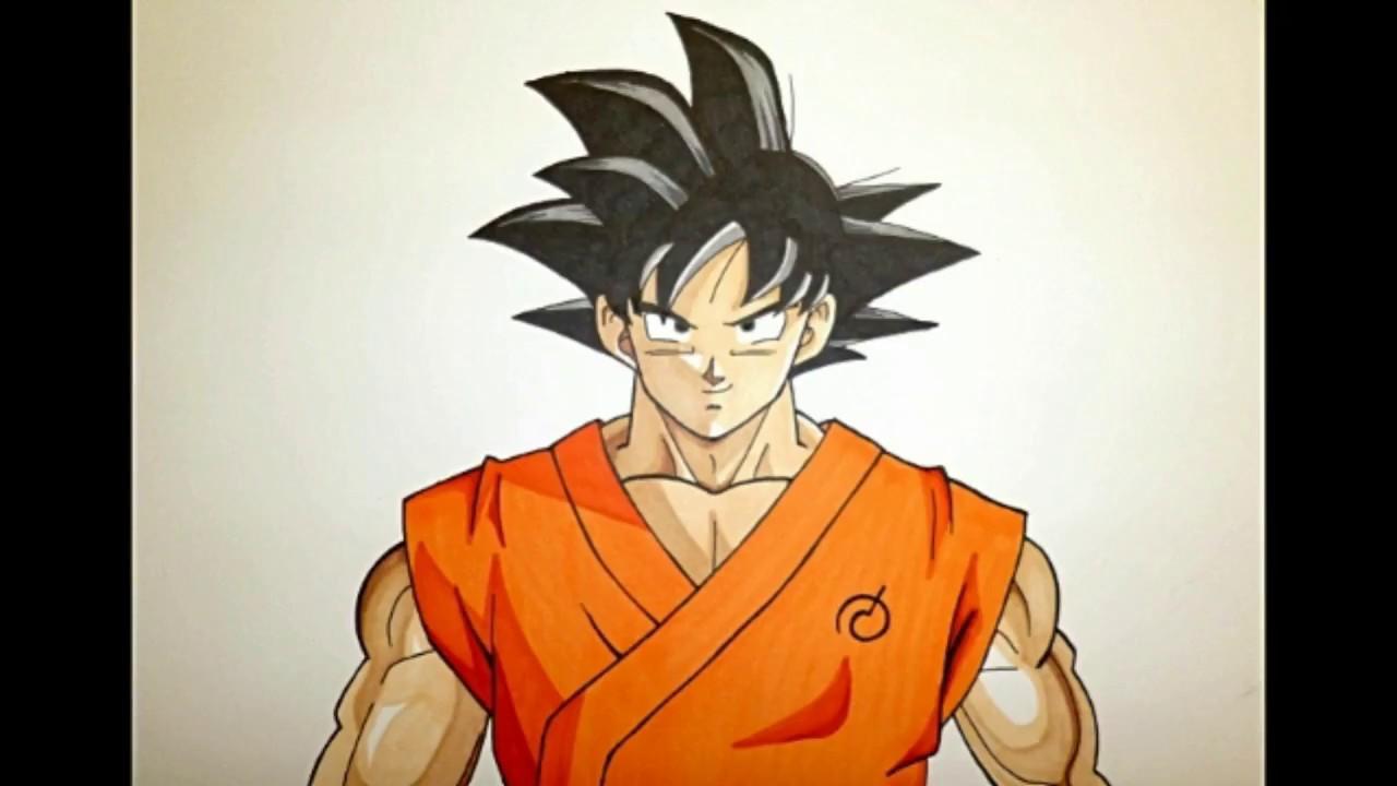 50 Imágenes De Goku Para Dibujar: Cómo Dibujar A Goku / How To Draw Goku / Speed Draw