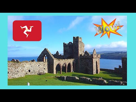 ISLE OF MAN: The ancient and historic VIKING CASTLE in PEEL