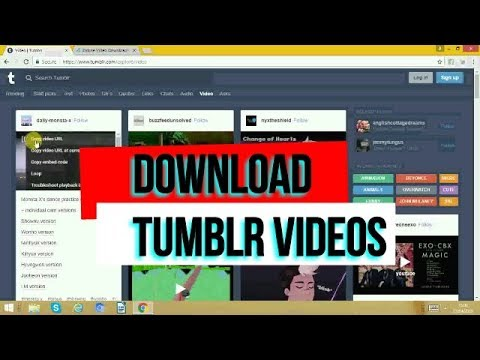 HOW TO DOWNLOAD TUMBLR VIDEOS?