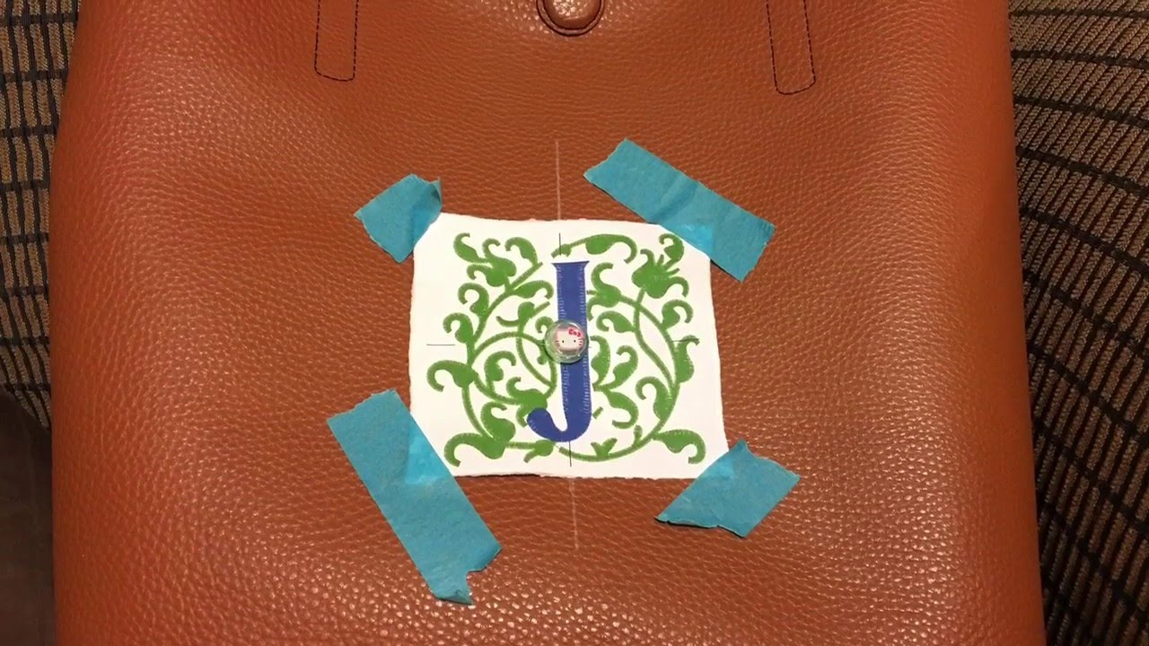 How to embroider on a quot pleather tote youtube