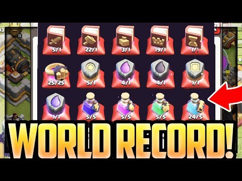 WORLD RECORD?! Clash of Clans READY for TOWN HALL 12!