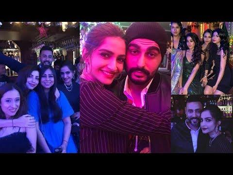 Sonam Kapoor, Anand Ahuja , Arjun Kapoor |Janhvi Kapoor reunion at Anil Kapoor brday party