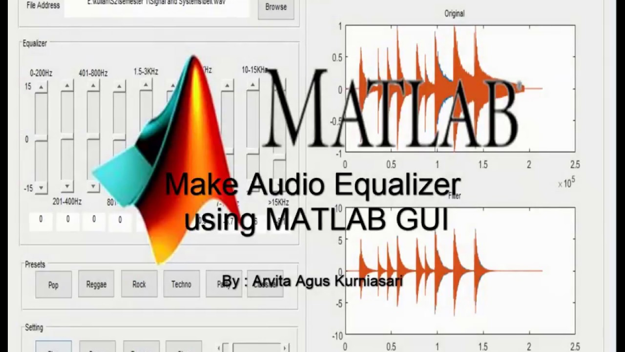 Make Audio Equalizer Using Matlab Gui Youtube Graphic Circuit Diagram