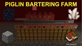 How to build an OP AFK Piglin Bartering Farm in Minecraft 1.16!