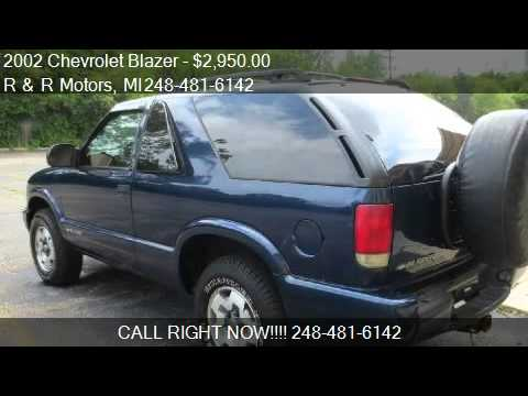 2002 chevrolet blazer 2 door 4wd ls for sale in waterford youtube. Black Bedroom Furniture Sets. Home Design Ideas