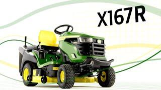 Vidéo: Tracteur tondeuse X167R
