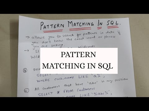 PATTERN MATCHING IN