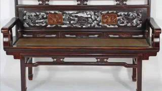 Antique Chinese Carvings On Bench _bk0005y.wmv