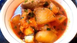 Boal mass ar mola tarkari Boal fish and white radish curry alaur rahman