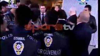 Galatasaray Fenerbahce Basketbol finali - Fenerbahceli Yoneticilere Yumruk lu Saldiri