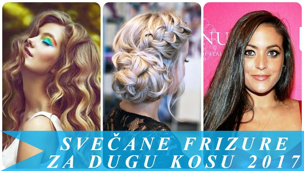 Svečane frizure za dugu kosu 2017 - YouTube