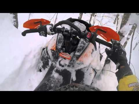 Snowmobiling off trail houghton Michigan 2016
