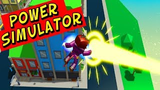 Trying To Become A Superhero In Power Simulator In Roblox