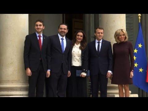 AFP news agency: Saad Hariri and his family meet France's Macron at Elysee