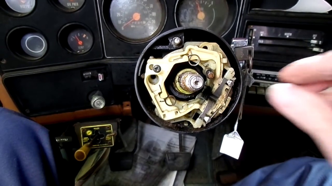 79- Chevy Truck Ignition lock Cylinder Replacement - YouTube