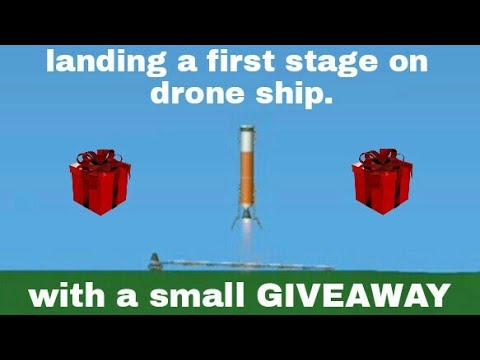 Landing a orbital booster on drone ship || spaceflight simulator