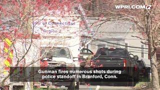VIDEO NOW: Gunman fires numerous shots during  police standoff in Branford, Conn