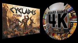 Cyclades Boardgame + Titans & Monuments Expansion 4 Player Playthrough/Tutorial