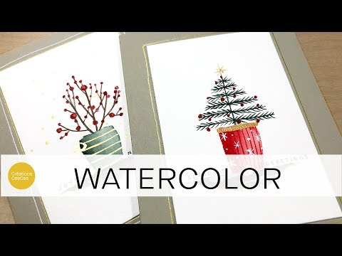 Watercolor: Easy Christmas Cards