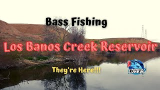 BASS Fishing LOS Banos CREEK Reservoir with FRIEND WE got ON EM