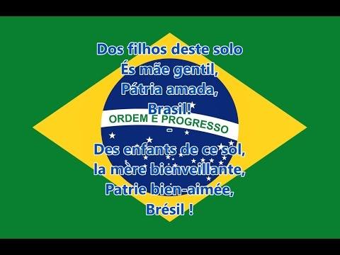 Hymne national du Brésil - Hino Nacional Brasileiro (PT/FR Paroles)