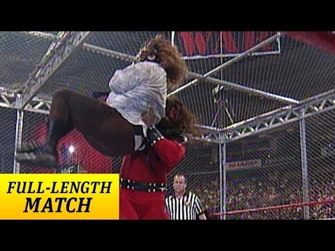 FULLLENGTH MATCH  Raw  Kane vs Mankind  Hell in a Cell