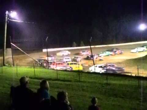 "PSRA Pure Stock ""A"" Feature at West Siloam Speedway Part 1"