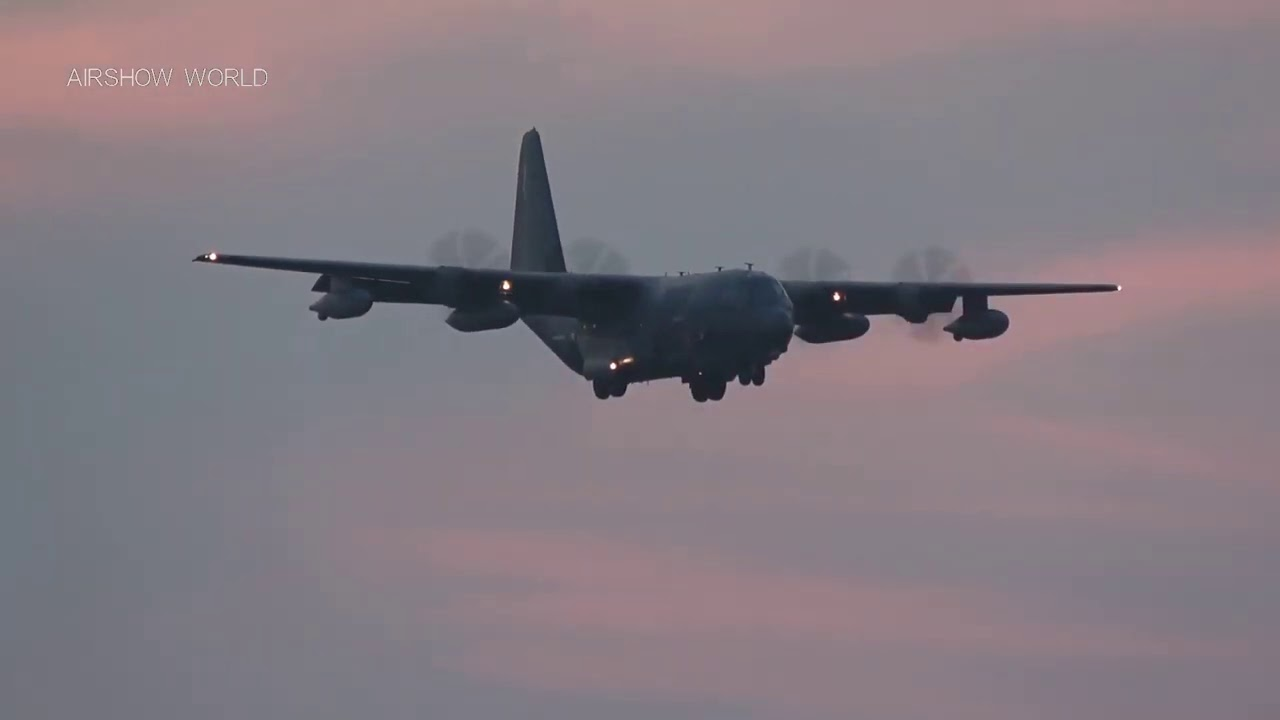 C-130 In A Beautiful Sunset Live Stream At RAF Mildenhall