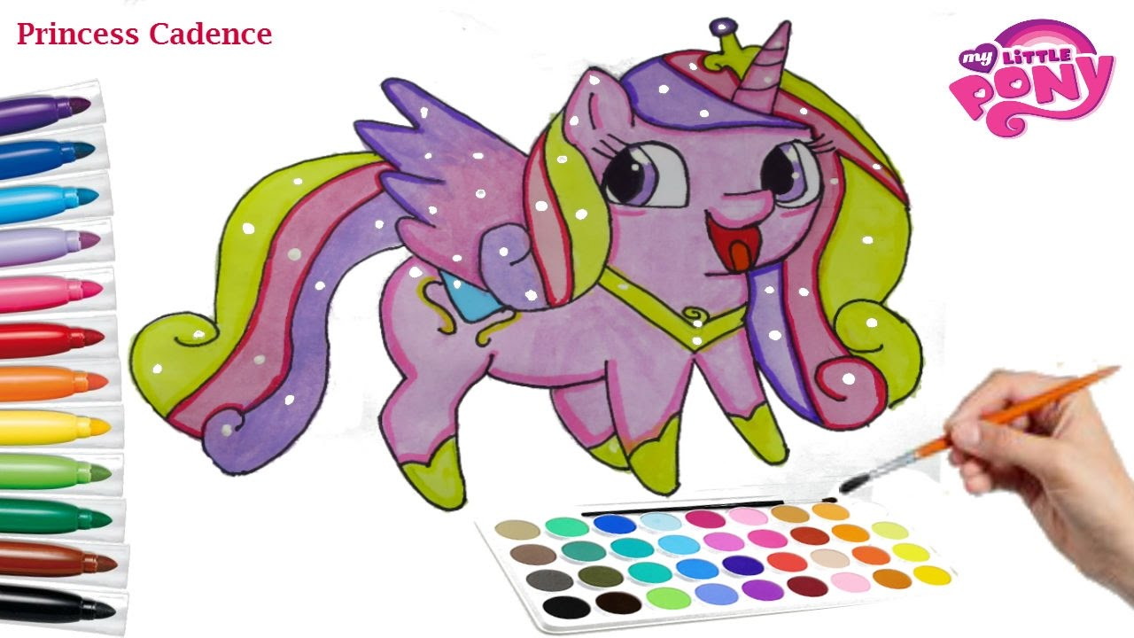 my little pony how to draw princess cadence cute painting