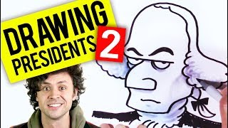 Watch me draw 10 presidents - PART 2