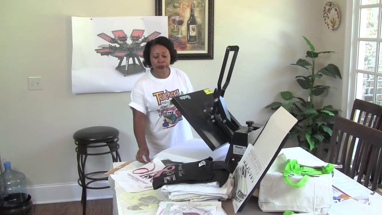 Heat press machine vs screen printing t shirts youtube for Machine for printing on t shirts