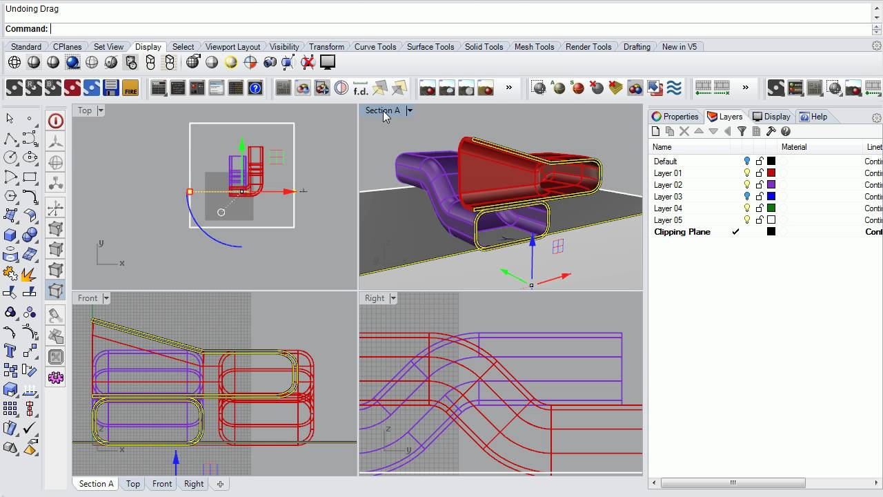 48 - Rhino - Cutting Perfect Sections in Rhino Using Section and Make2d