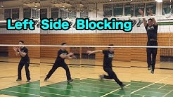 Outside Hitter Blocking Technique (part 1/2) - How to BLOCK a Volleyball Tutorial