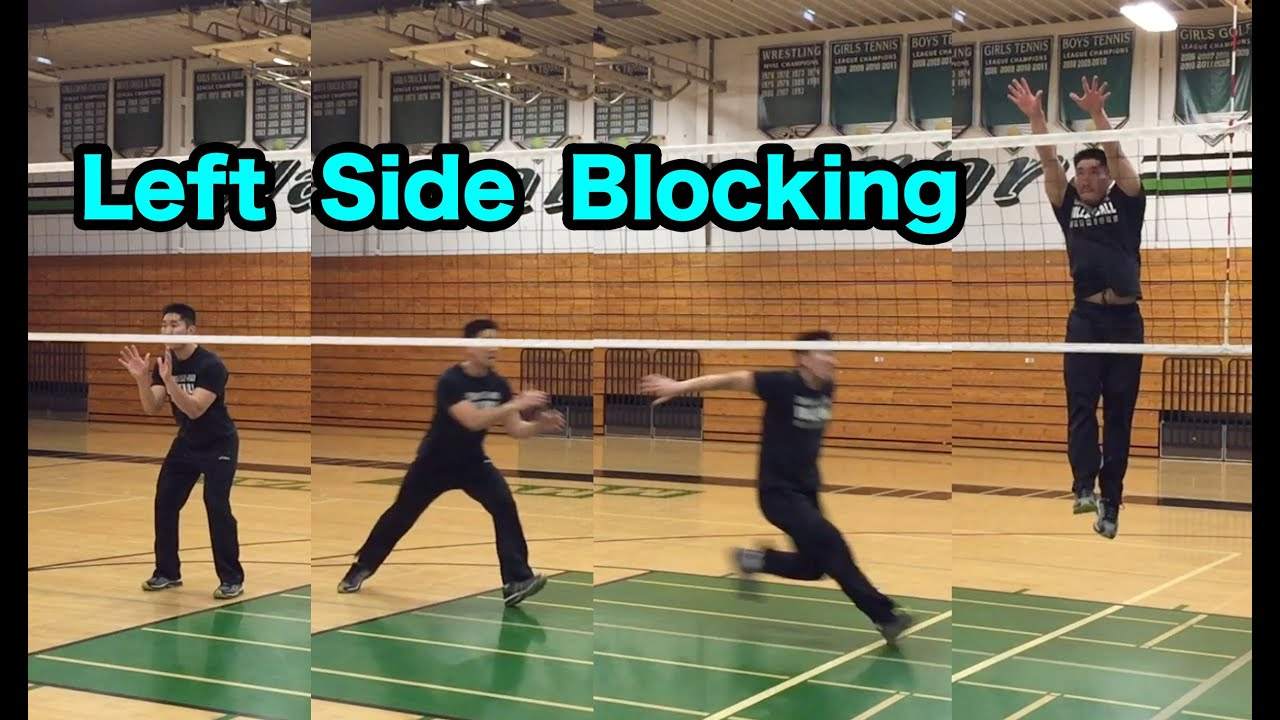 Right Side Blocking Technique Volleyball Tutorials Youtube