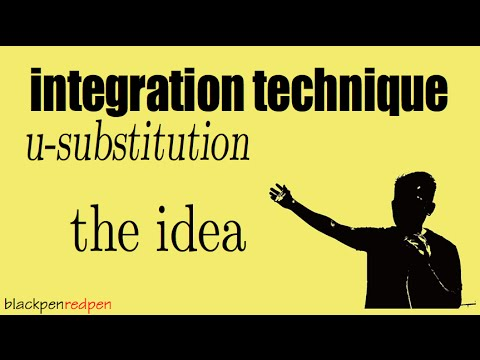 Understand u-substitution, the idea!