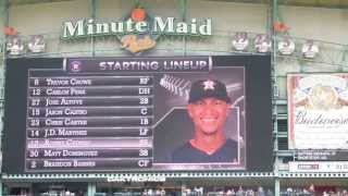2013 Houston Astros starting lineups (May.12 vs.Texas Rangers @Minute Maid Park)