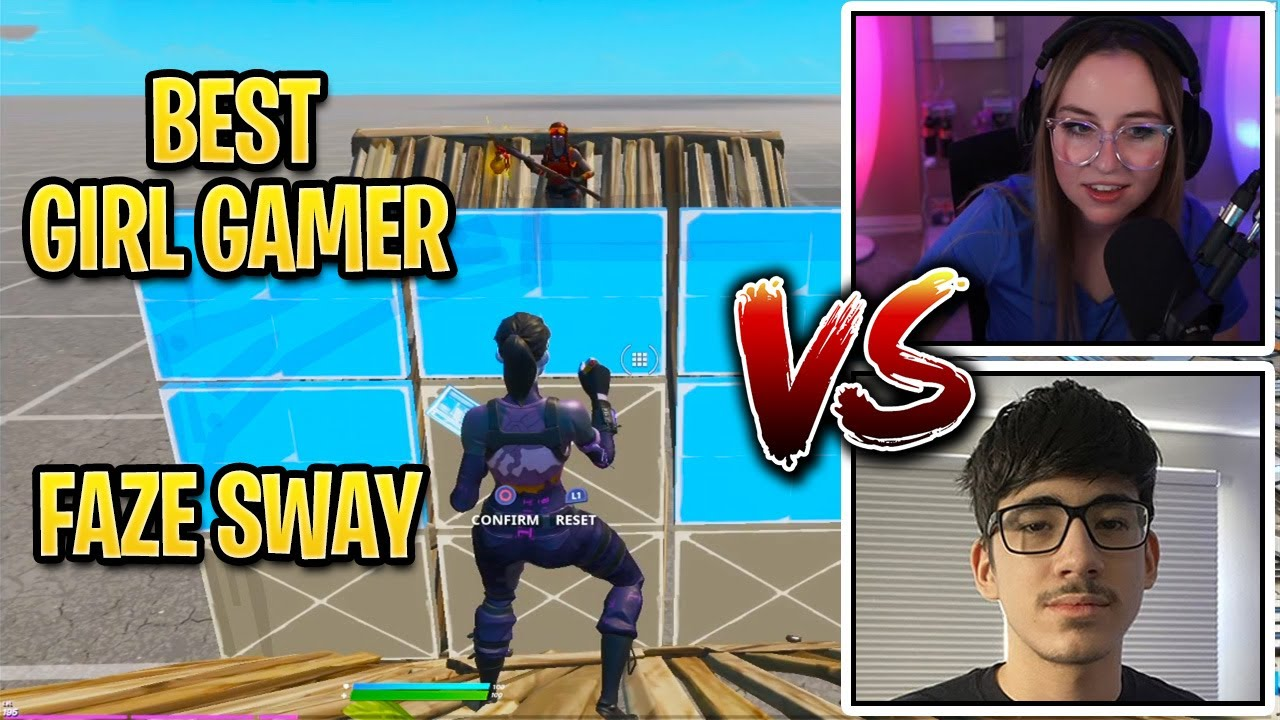 FaZe Sway Challenged Best Girl Gamer to a 1v1 Creative Buildfight and this happened..