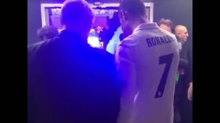 ronaldo meets fergie at the ucl final