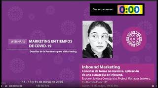 Ciclo webinars Marketing en tiempos de Covid - Inbound Marketing