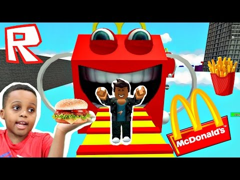 RACING WITH MY FAN! - Let's Play Roblox Escape McDonald's Obby! - Playonyx