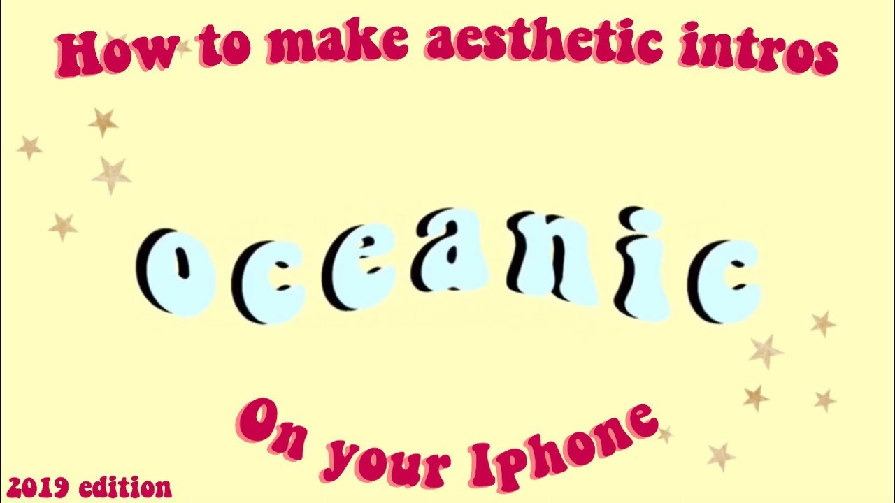 How to make |aesthetic intros| wavy intro on iPhone and iPad |2019 edition|  For youtube