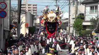 唐津くんち、2011.11.04、宮島醤油折り返し、九番武田信玄の兜.
