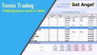 Betfair trading strategy - Predicting prices moves in Tennis